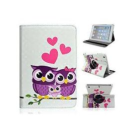 Owl Family with Heart